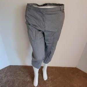 George thick slim blue and white capri dress pants
